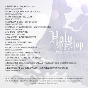 Holy HipHop mixtape - achterkant